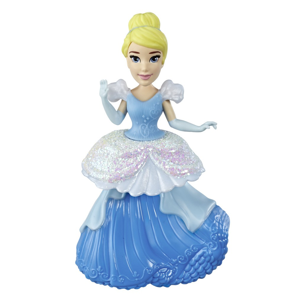 Mini Boneca Princesa Disney Royal Clips Cinderela E4860 E3049 - Hasbro