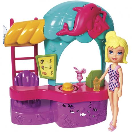 Mini Boneca Polly Pocket Quiosque Parque Aquático - Mattel