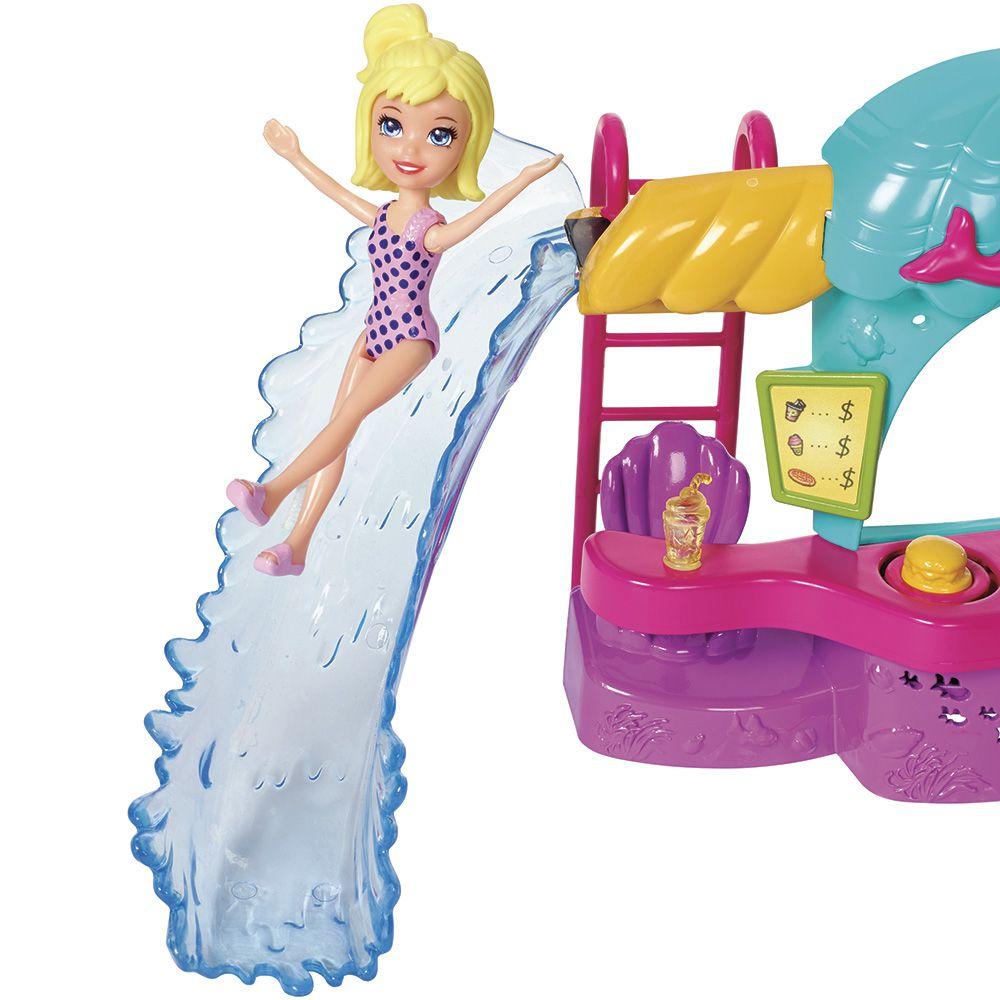 Mini Boneca Polly Pocket Quiosque Parque Aquático - Mattel