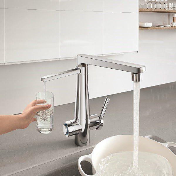 Misturador Monocomando Para Cozinha com Purificador de Água Docolvitalis Cromada 00808906 - Docol