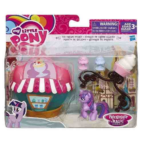 My Little Pony Cenários Quiosque de Sorvete  Twilight Sparkle - Hasbro