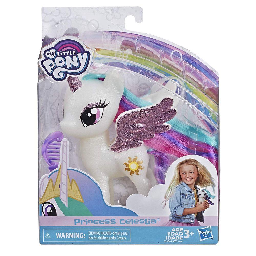 My Little Pony Princesa Celestia com detalhes em Glitter E5964 - Hasbro