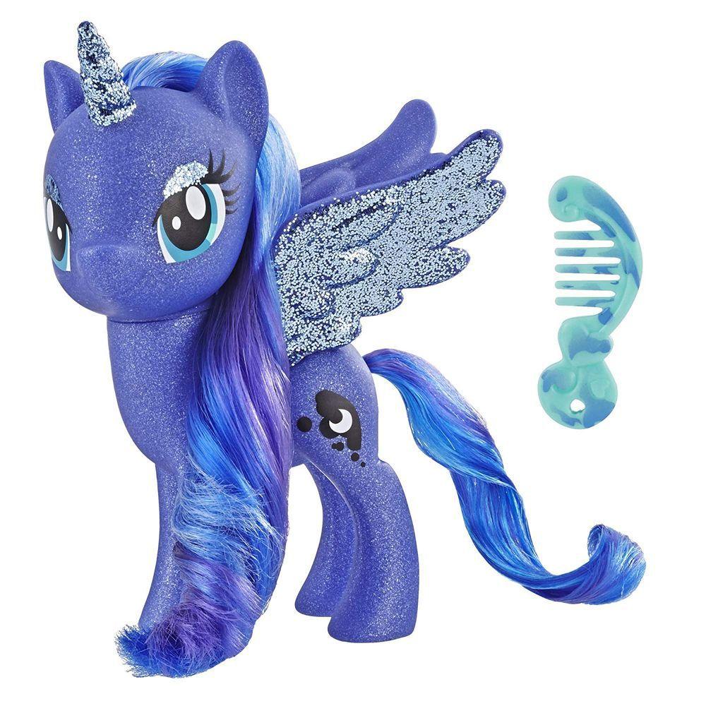 My Little Pony Princesa Luna com detalhes em Glitter E5963 - Hasbro