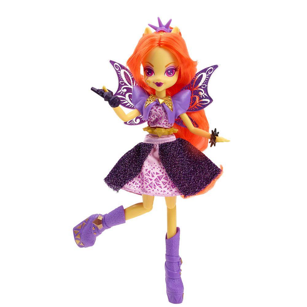 Boneca My Little Pony Rainbow Rocks Adagio Dazzle Cantora  - Hasbro