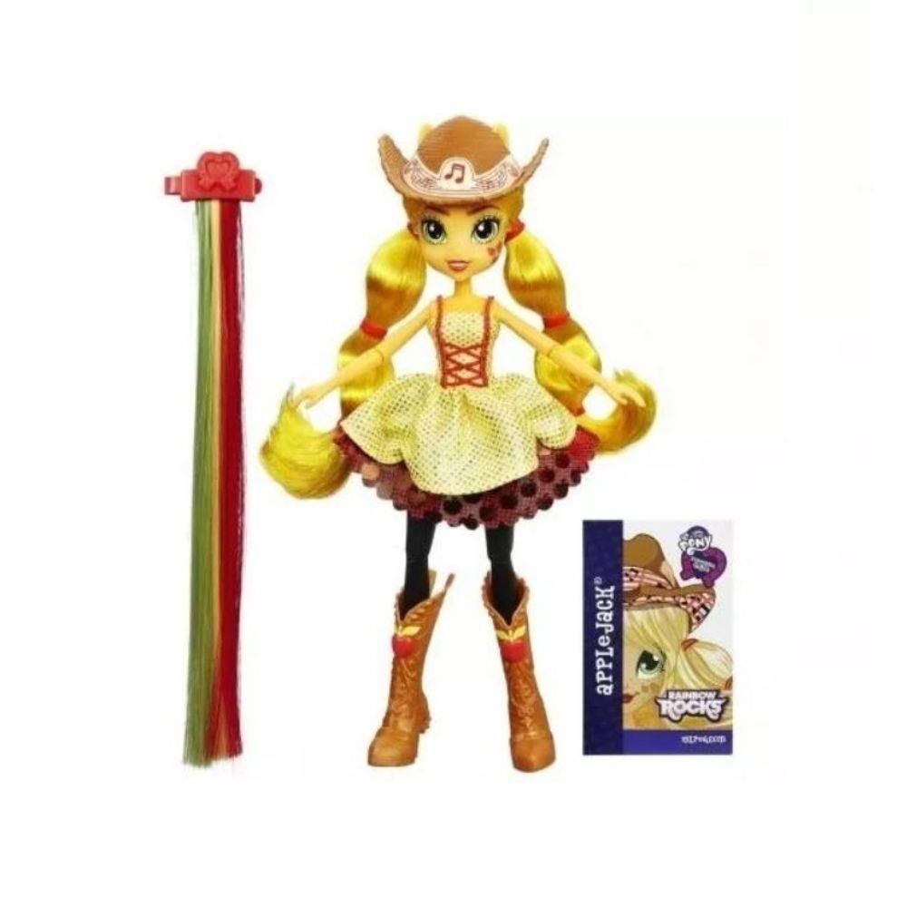Boneca My Little Pony Rainbow Rocks Applejack Penteado de Arrasar - Hasbro