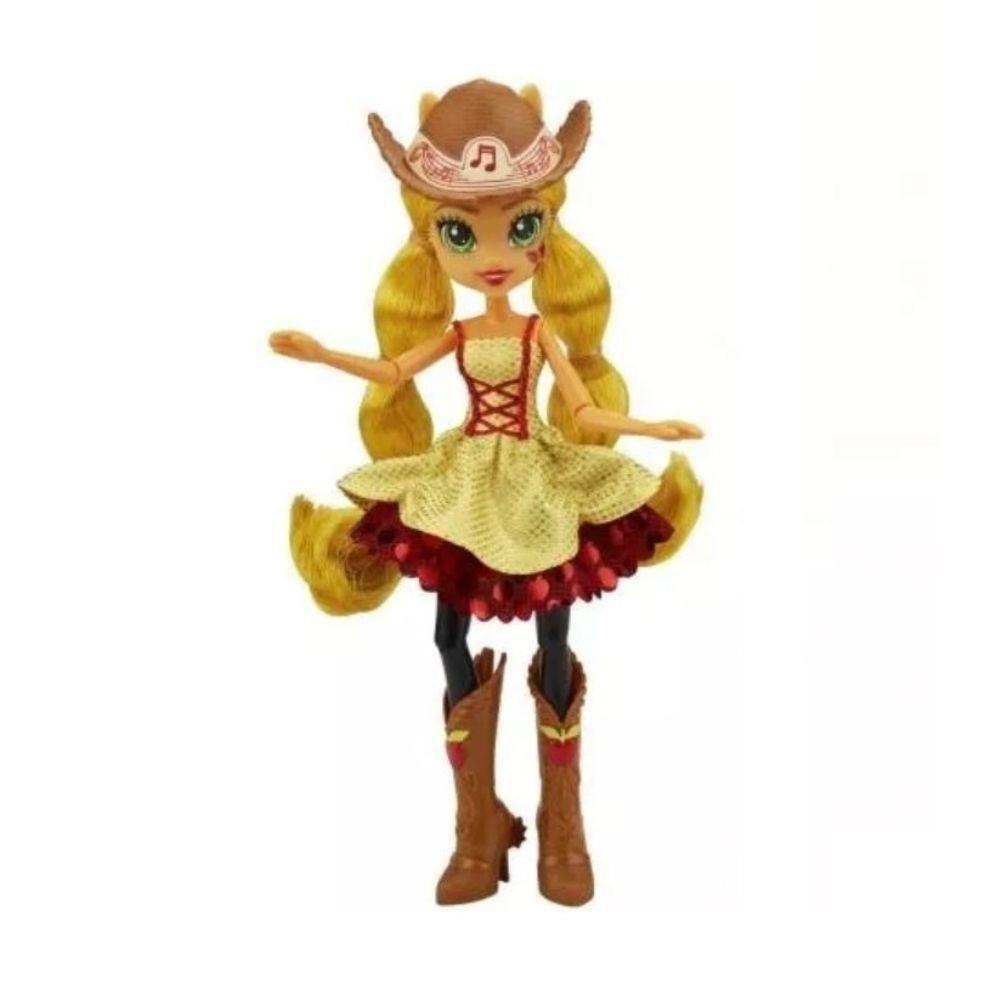 Boneca My Little Pony Rainbow Rocks Applejack Penteado de Arrasar - Hasbro