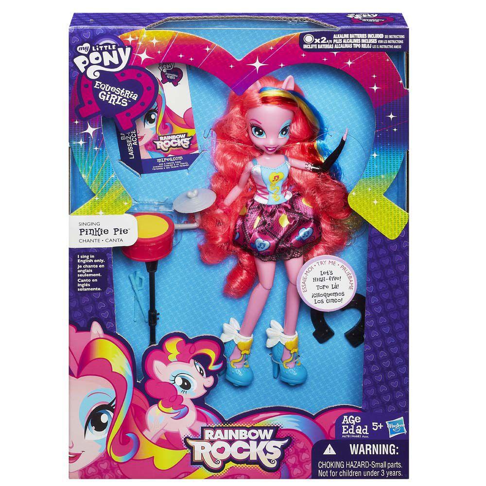 Boneca My Little Pony Rainbow Rocks Pinkie Pie Baterista  - Hasbro