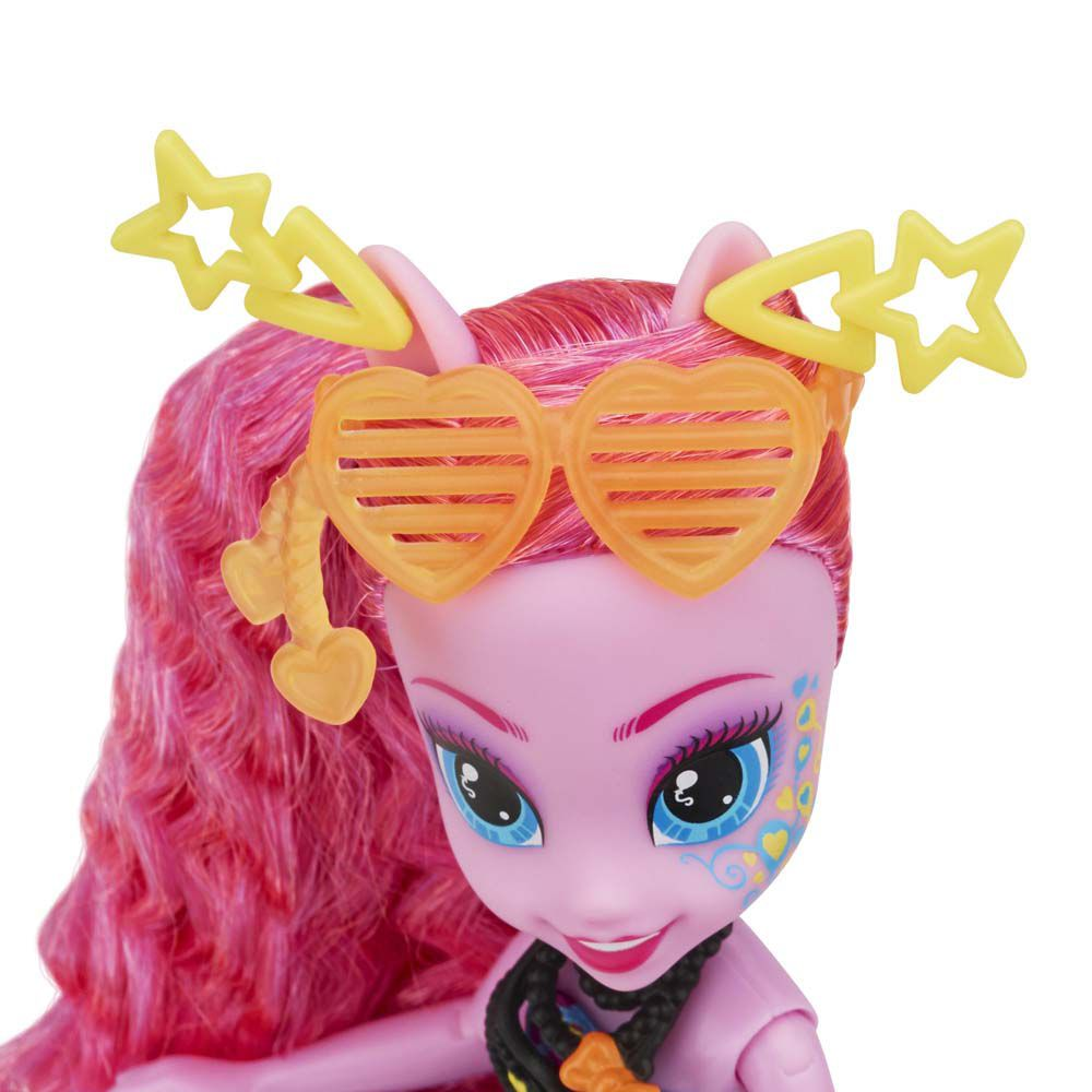 Boneca My Little Pony Rainbow Rocks Pinkie Pie Penteado de Arrasar - Hasbro