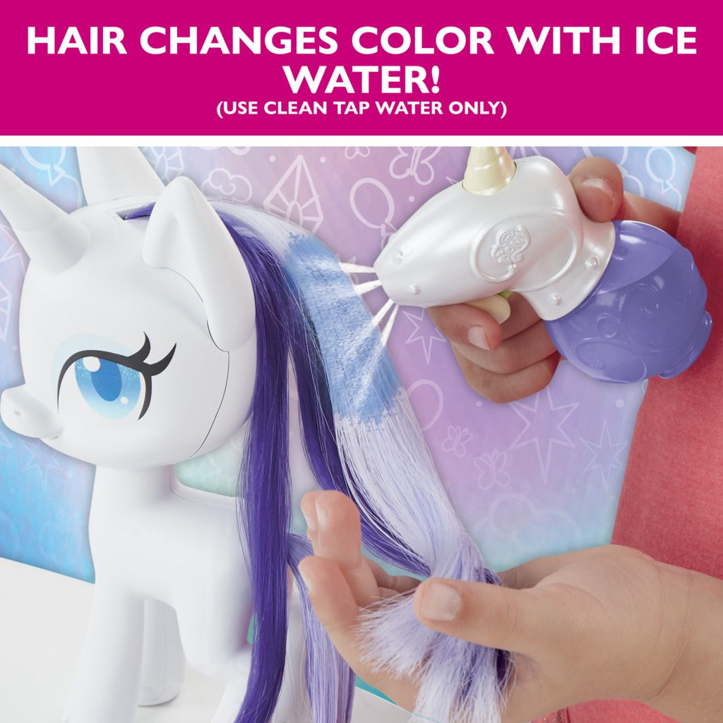 My Little Pony Rarity Cabelos e Cores Magicas E9104 - Hasbro