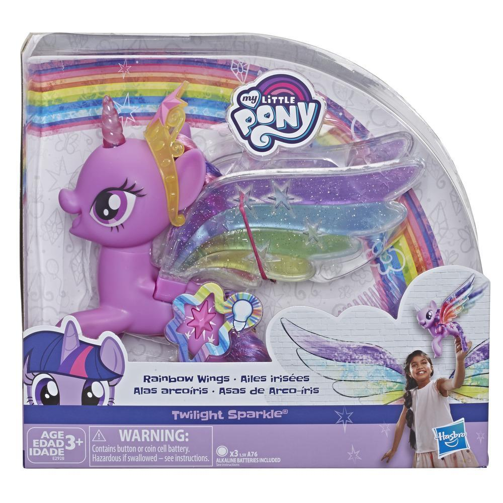 My Little Pony Twilight Sparkle Asas de Arco-íris com Luzes e Asas Móveis E2928 - Hasbro