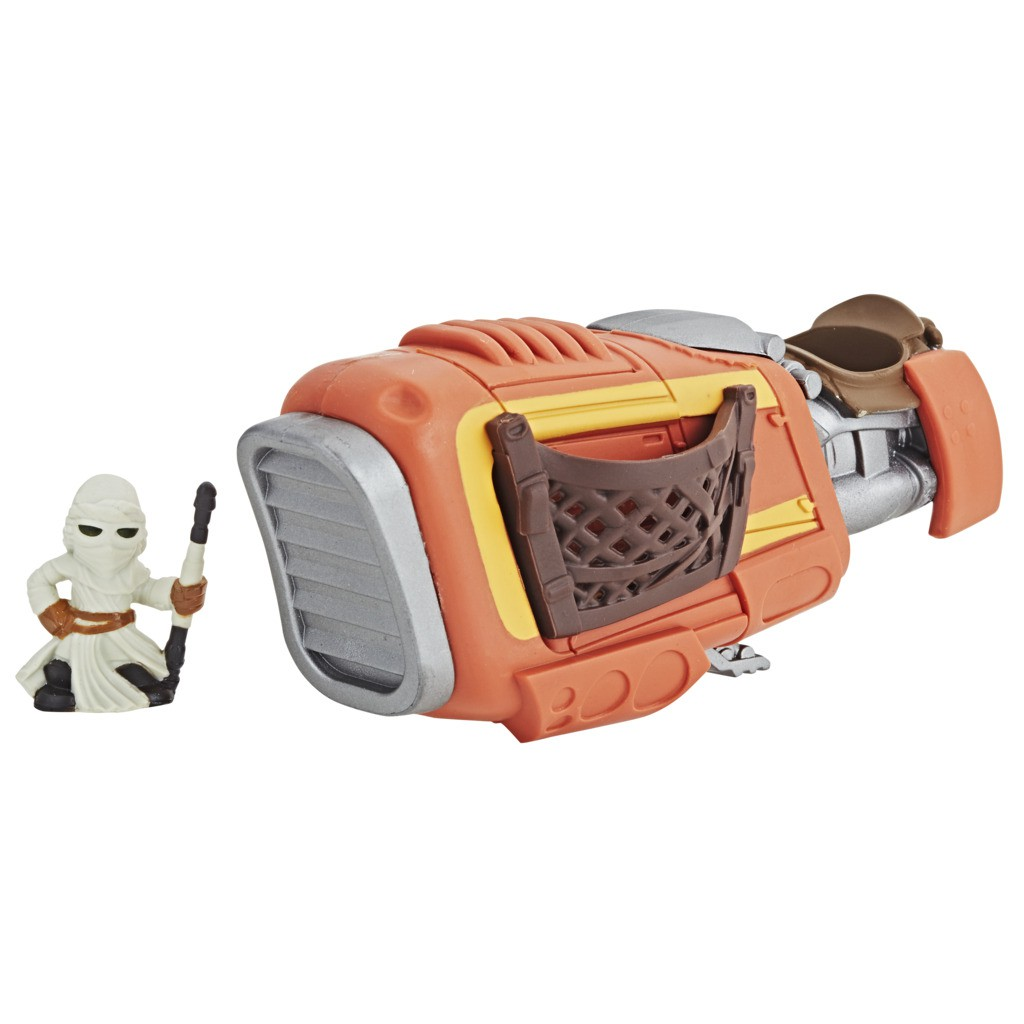 Nave Star Wars Micro Force Rey Jakku Speeder E2410 E2394 - Hasbro