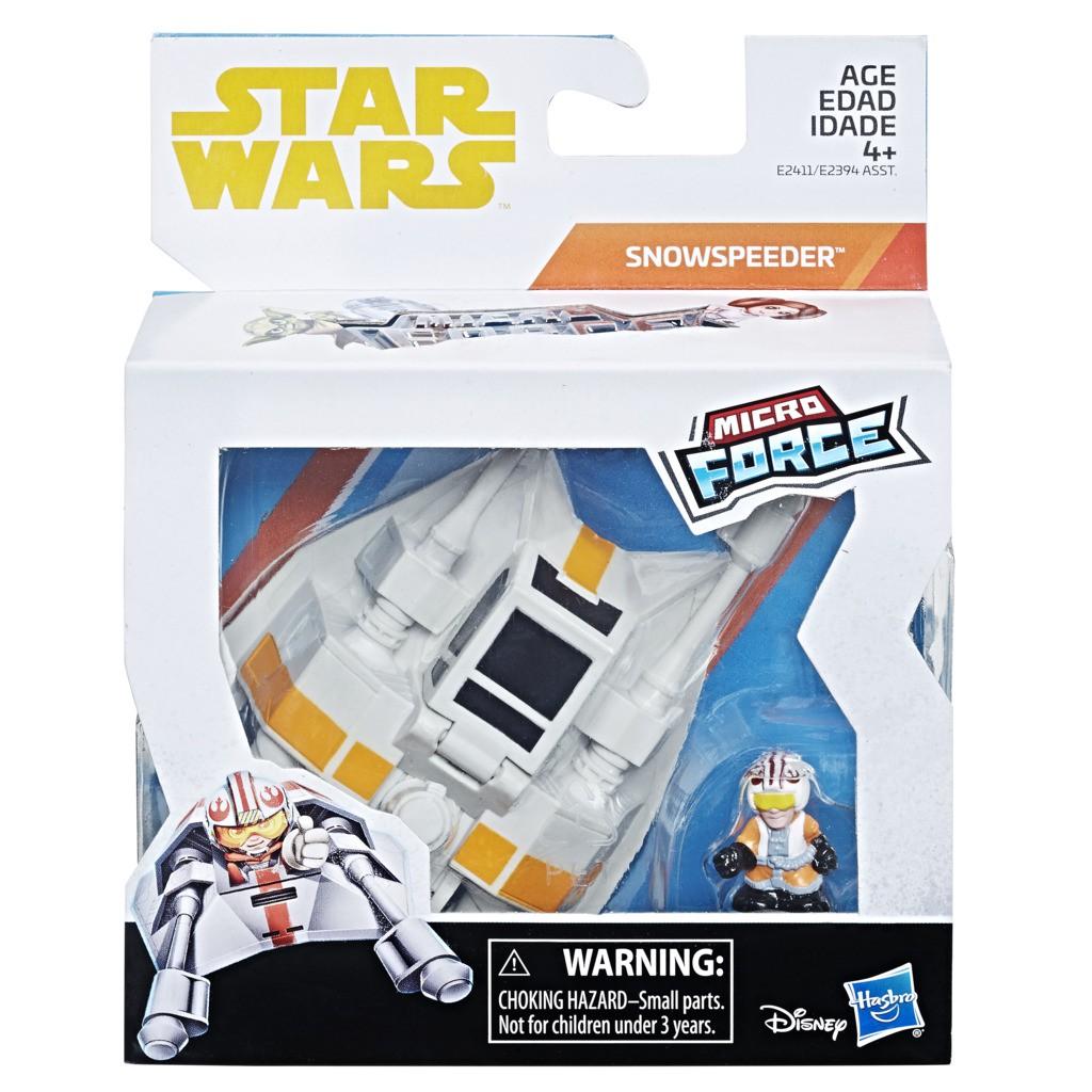 Nave Star Wars Micro Force  Snowspeeder E2411 E2394 - Hasbro