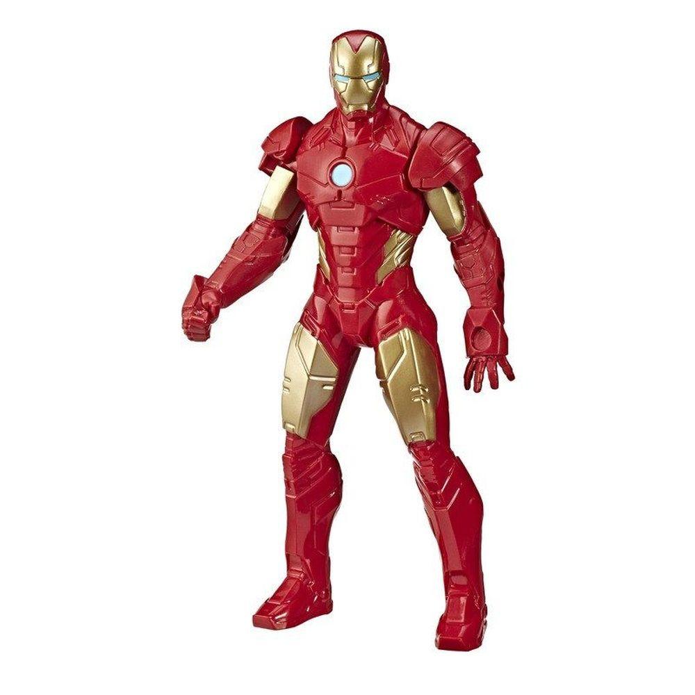 Pack 04 Bonecos Marvel Avengers Olympus 25CM - Homem Aranha - Pantera Negra - Capitão América e Homem de Ferro E5556 - Hasbro