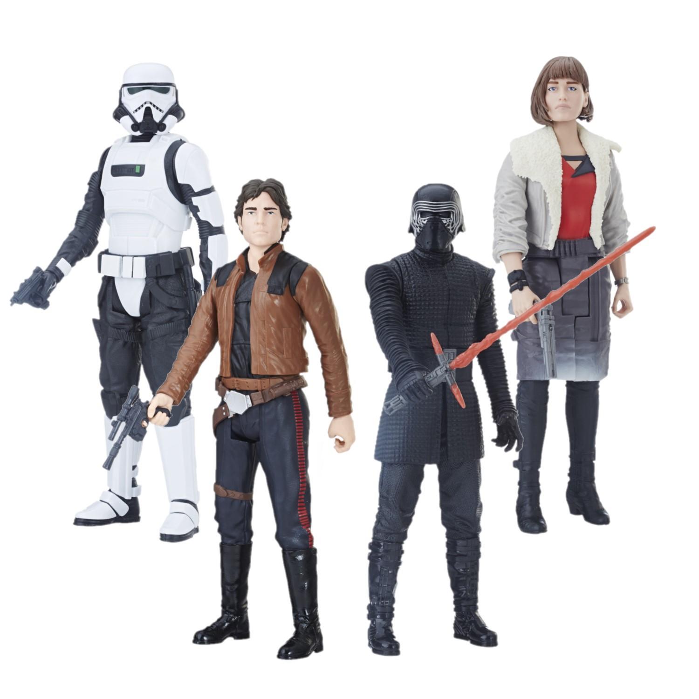 Boneco Star Wars Pack 4 Personagens Kylo Ren + Han Solo + Qira + Trooper E2380 - Hasbro