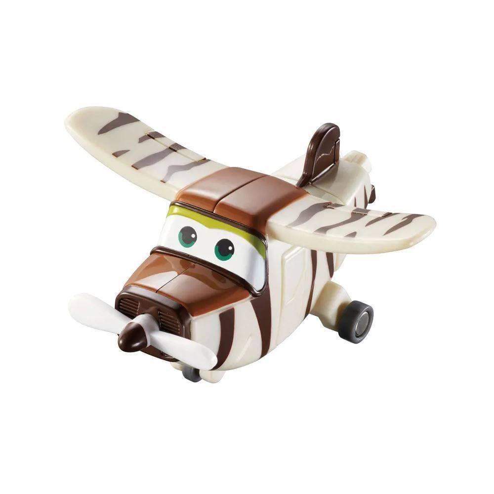 Pack 04 Mini Aviões Super Wings  Flip + Jett + Jerome + Bello Change em Up 8006-2 - Fun