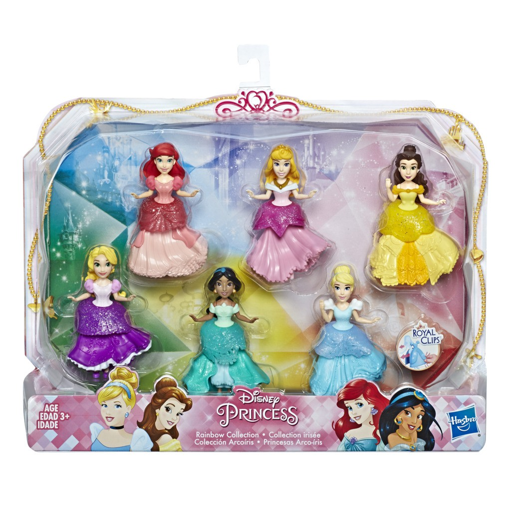 Pack 06 Mini Bonecas Princesas Disney Royal E5094 - Hasbro