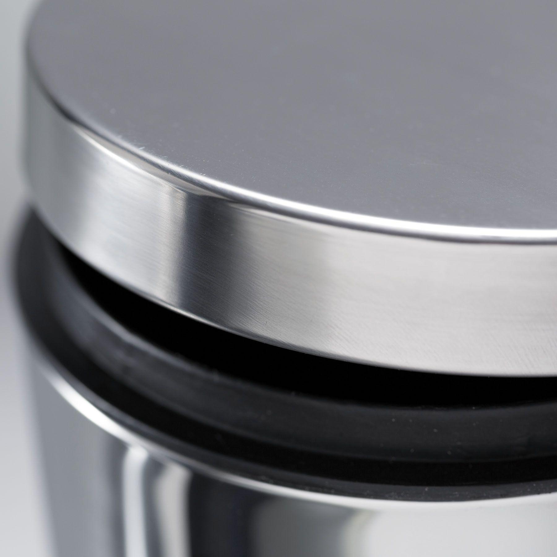 Pack 2 Unid. Lixeira Aço Inox 3 Litros com tampa e pedal cesto interno removivel - Dallare DL1324