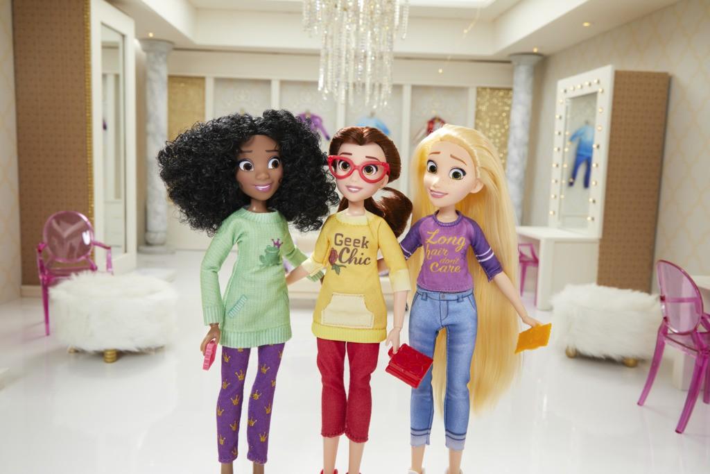 Pack Boneca Princesas Disney Comfy Squad Bela - Rapunzel - Tiana E8393 - Hasbro