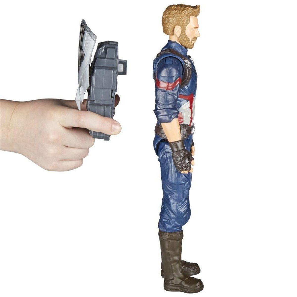 Pack Boneco Capitao America Com Dispositivo Power Fx E0607 + Boneco Homem de Ferro E1410 - Hasbro