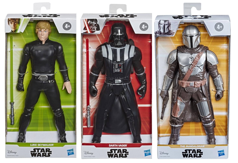 Pack Boneco Darth Vader + Mandalorian + Luke SkyWalker - Hasbro