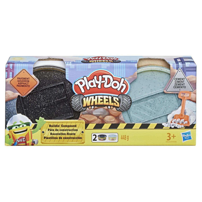 Pack Play Doh Wheels Massa de Construção Cimento e Asfalto + Pedra e Tijolo E4508 - Hasbro