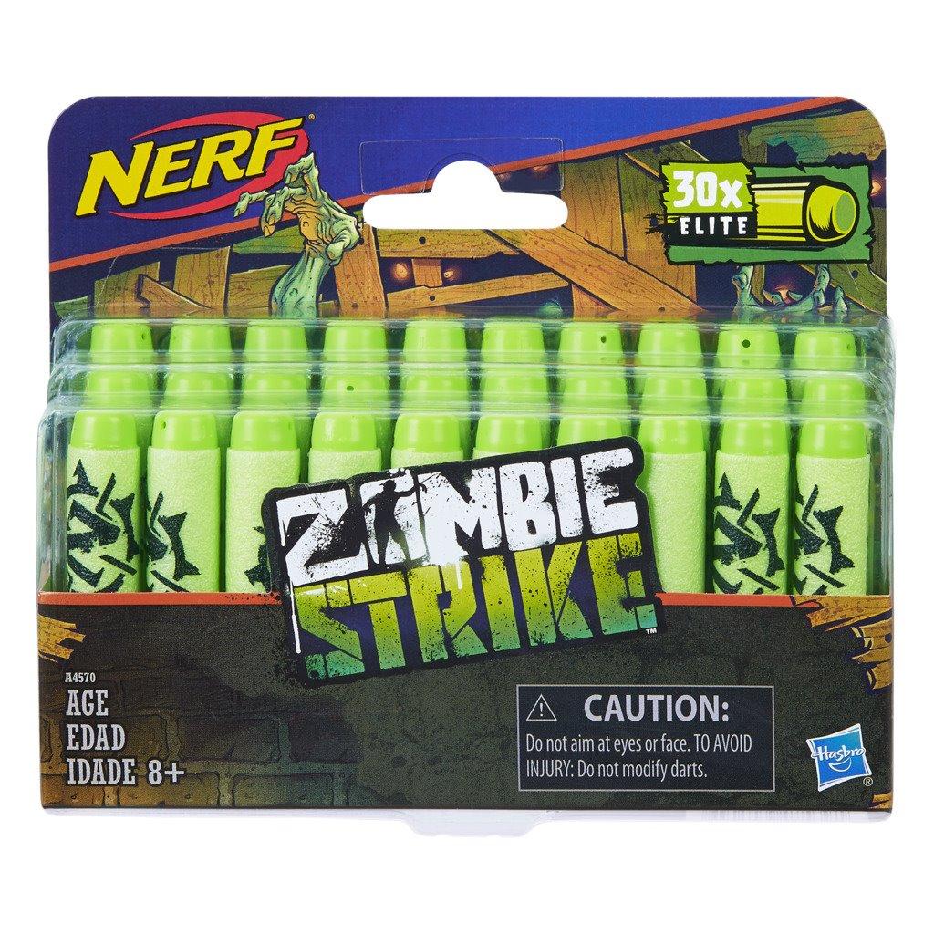 Pack Refil Nerf Zombie com 30 Dardos Oficiais A4570 - Hasbro