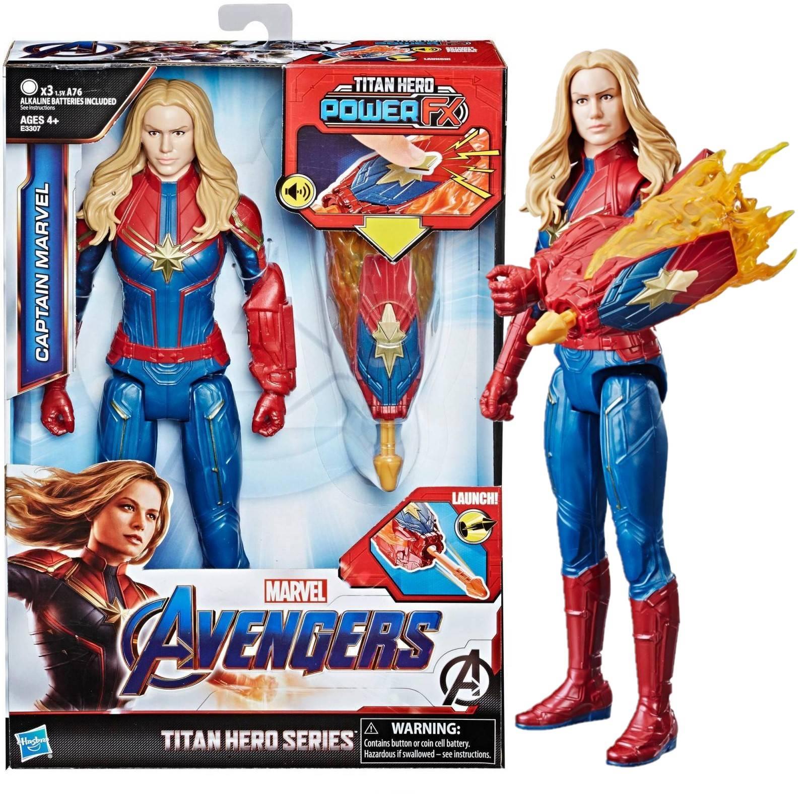 Pack Vingadores Ultimato Boneco Capitã Marvel com Dispositivo Power Fx E3307  + Boneco Senhor das Estrelas E3849 - Hasbro