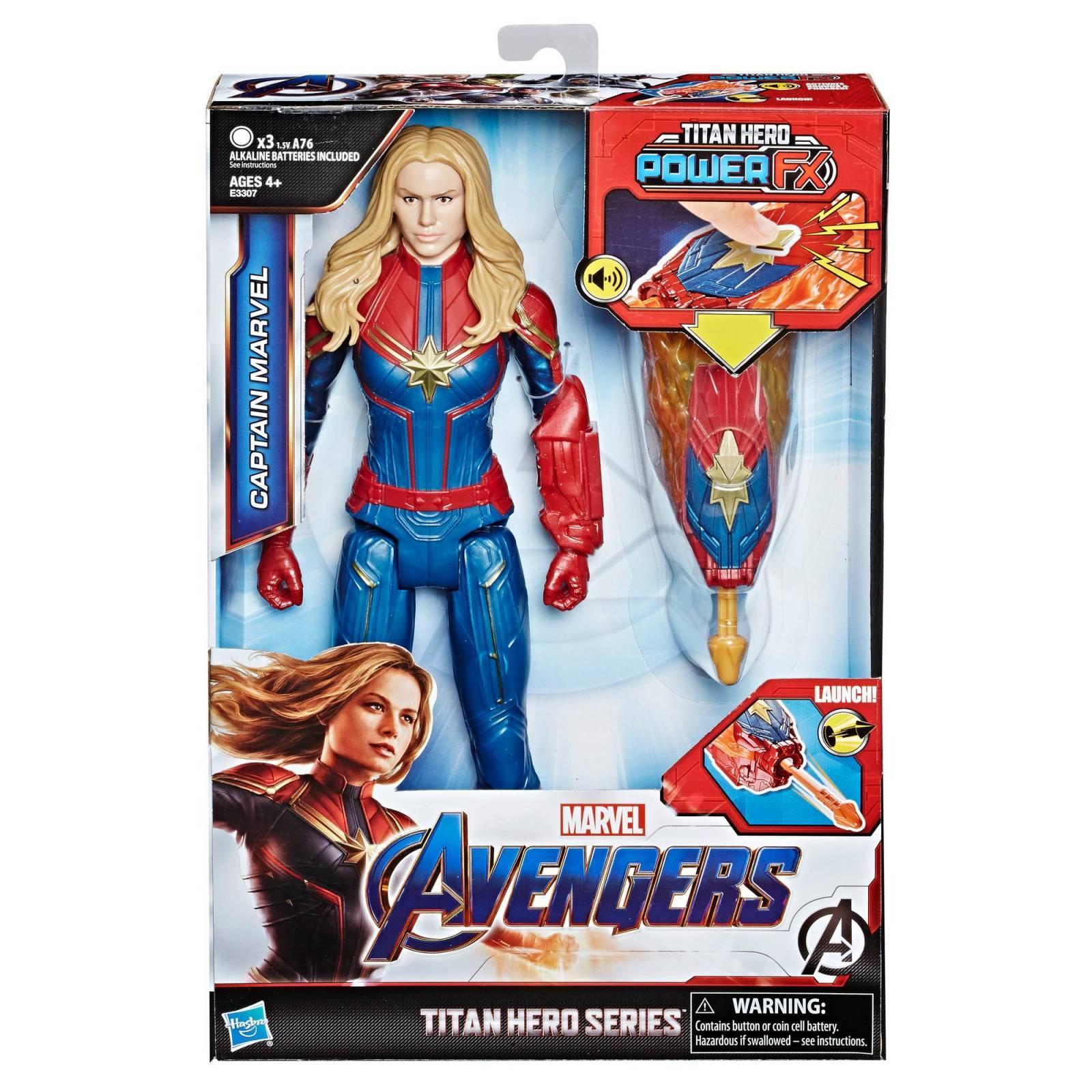 Pack Vingadores Ultimato Boneco Capitã Marvel com Dispositivo Power Fx E3307  + Boneco Valquiria E3847 - Hasbro