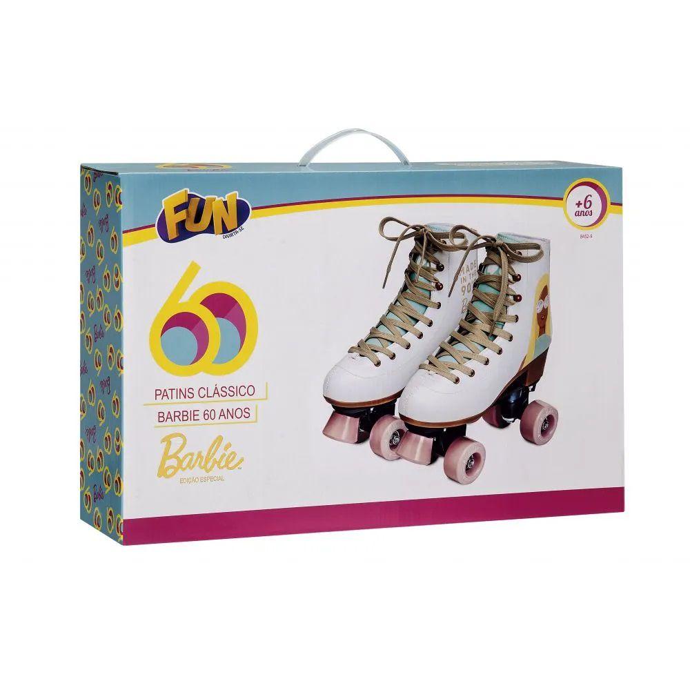 Patins Classico Barbie Edição Especial 60 anos 33/34 84352 - Fun