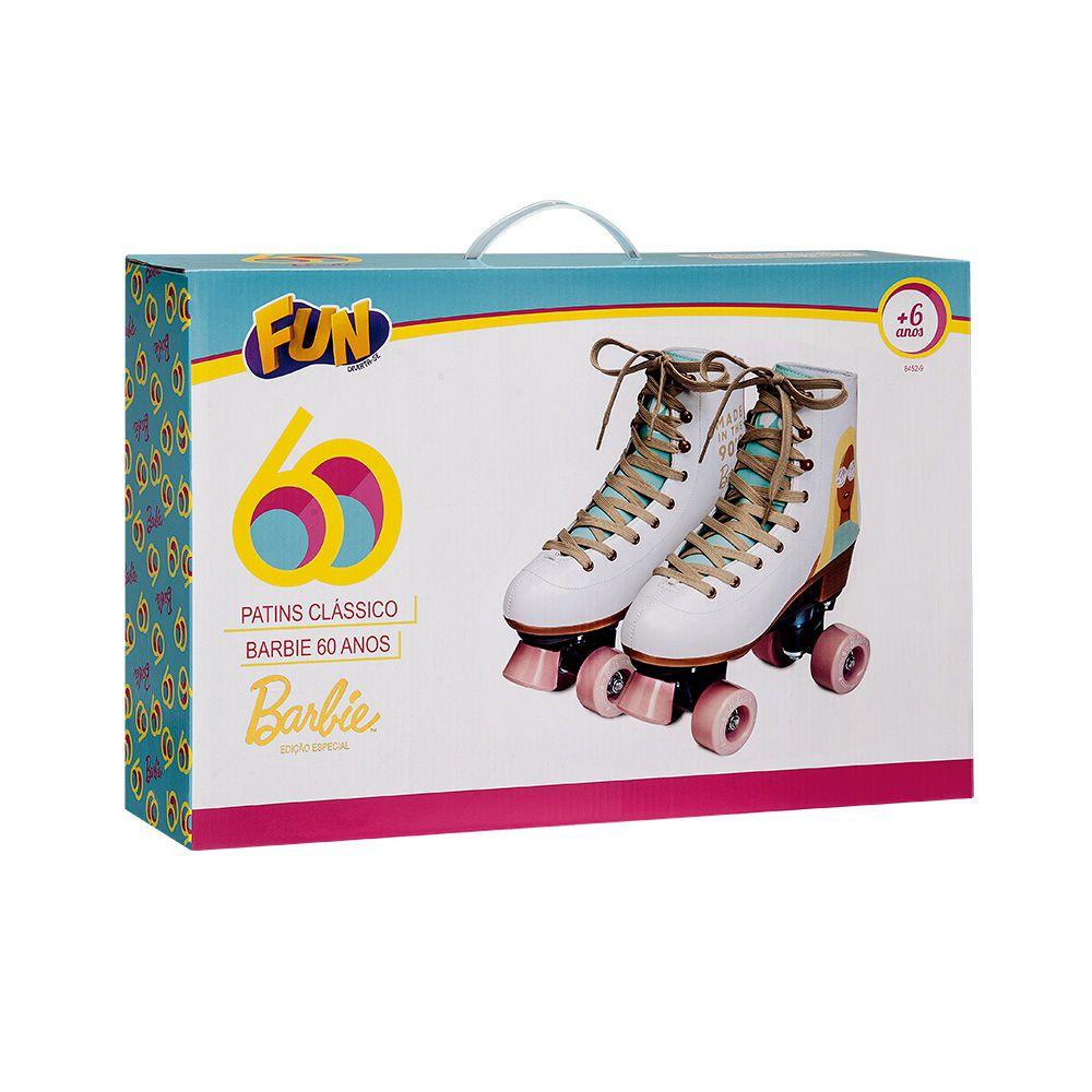 Patins Classico Barbie Edição Especial 60 anos 35/36 84529 - Fun
