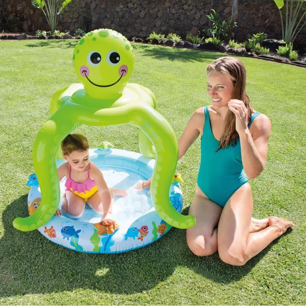 Piscina Baby Polvo com Cobertura 45 Litros - Intex