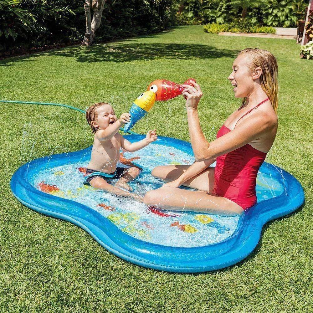 Piscina Baby Quadrada com Esguicho - Intex