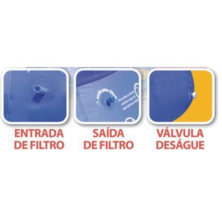 Piscina Redonda 4600 Litros com borda inflável - Mor