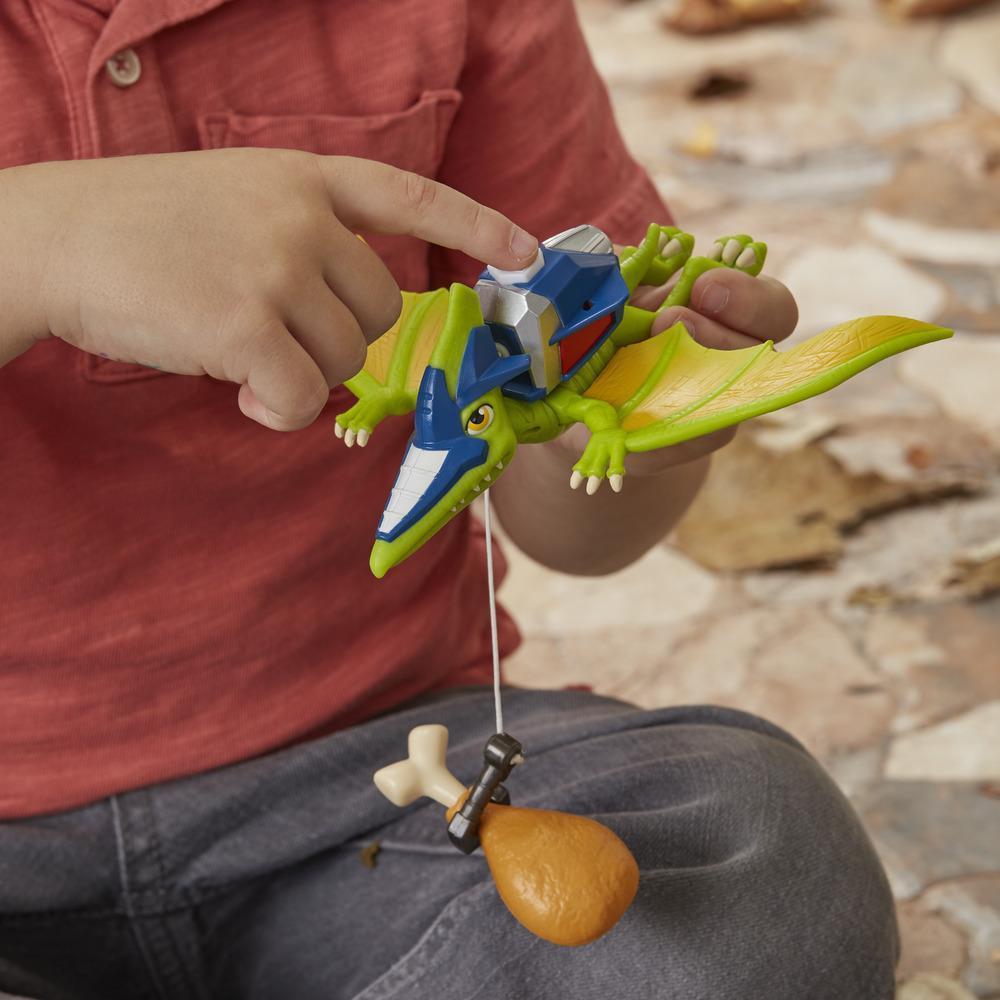 Chomp Squad Aerogancho Dinossauro Skyhook Playskool Heroes E1455 - Hasbro E0834