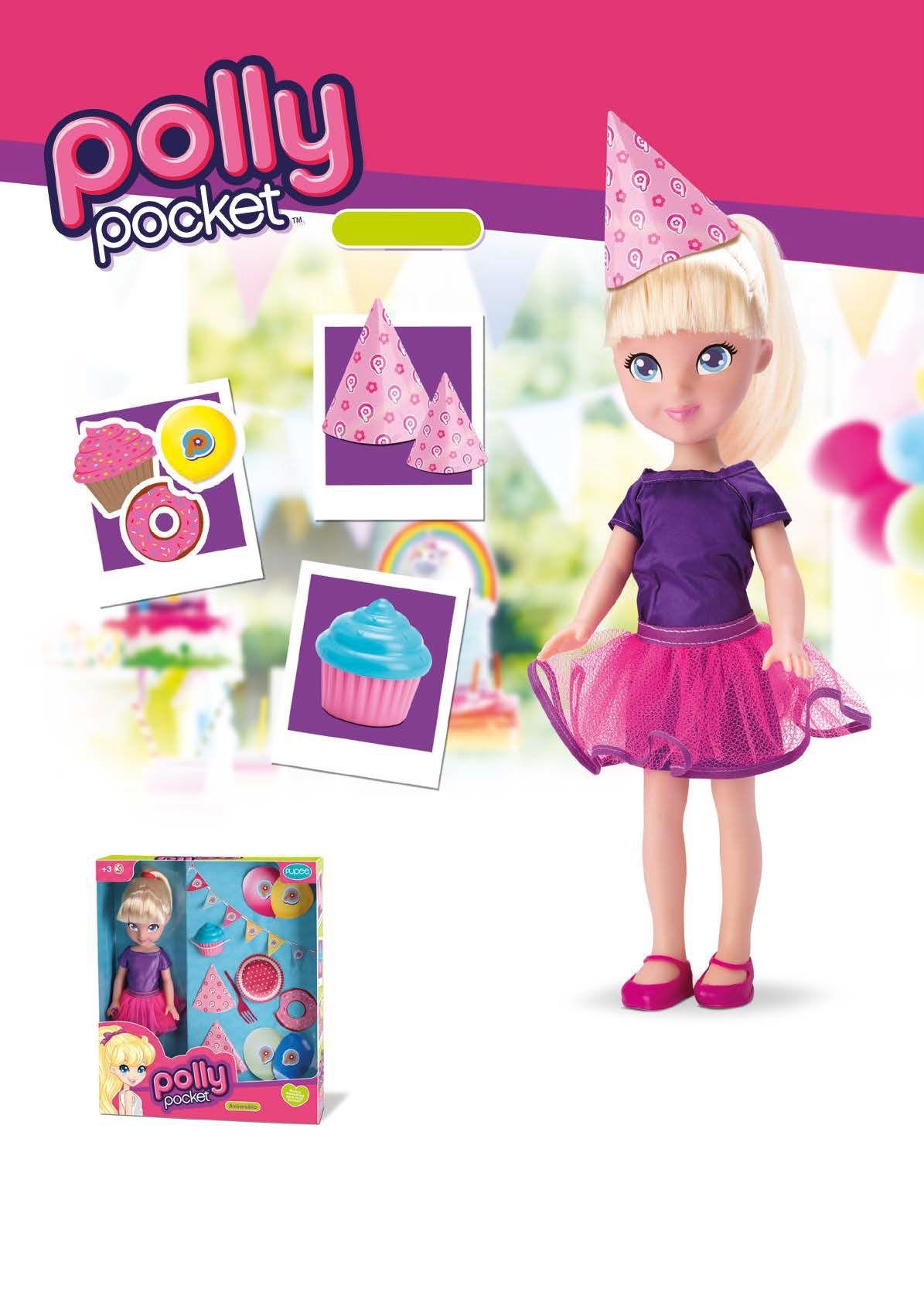 Polly Pocket Aniversário 35 cm - Pupee