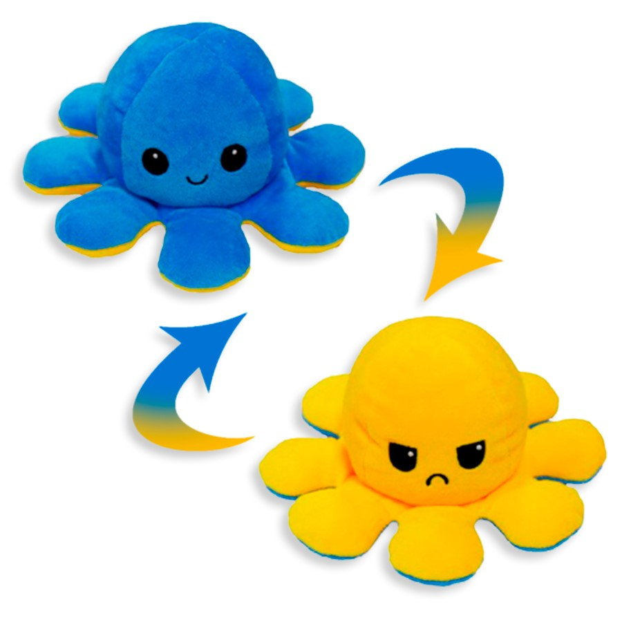 Polvo do Humor - Reversível Feliz e Triste Azul e Amarelo R3102