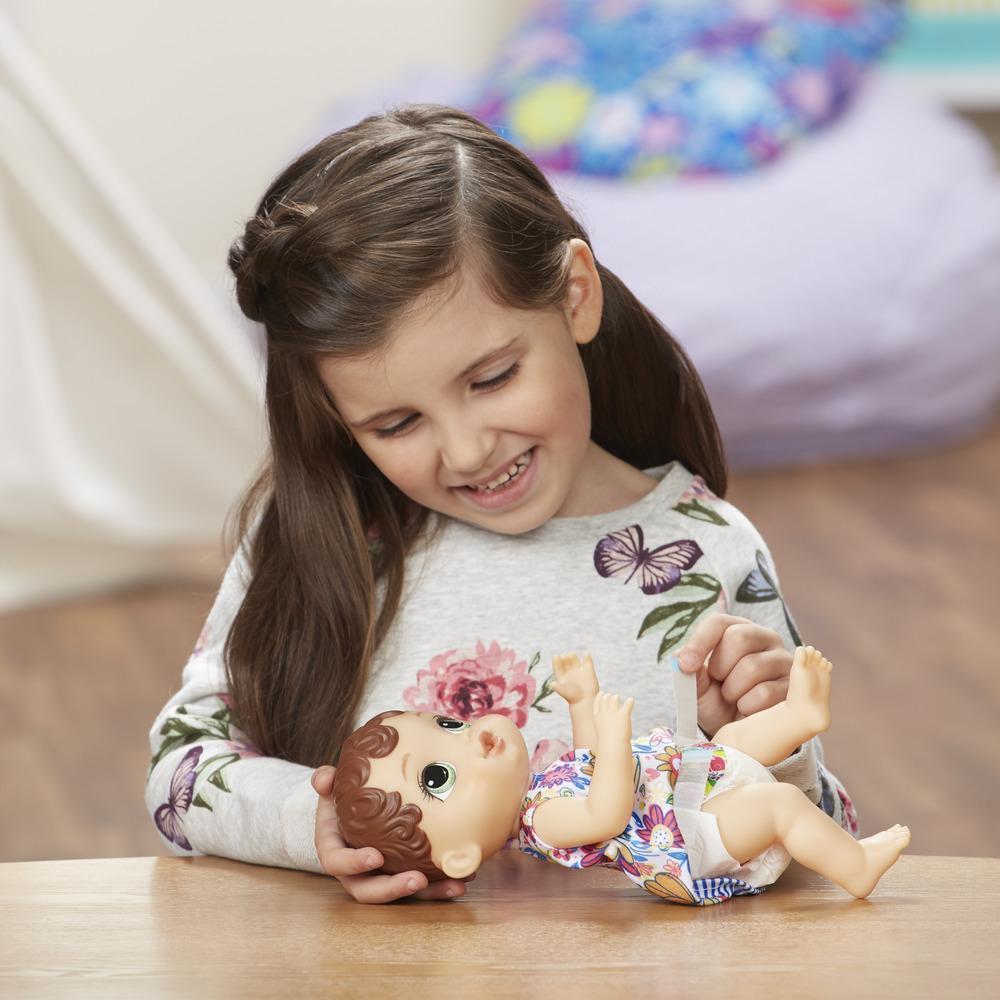 Promo - Baby Alive Boneca Hora do Xixi Morena NEW E0499 - Hasbro