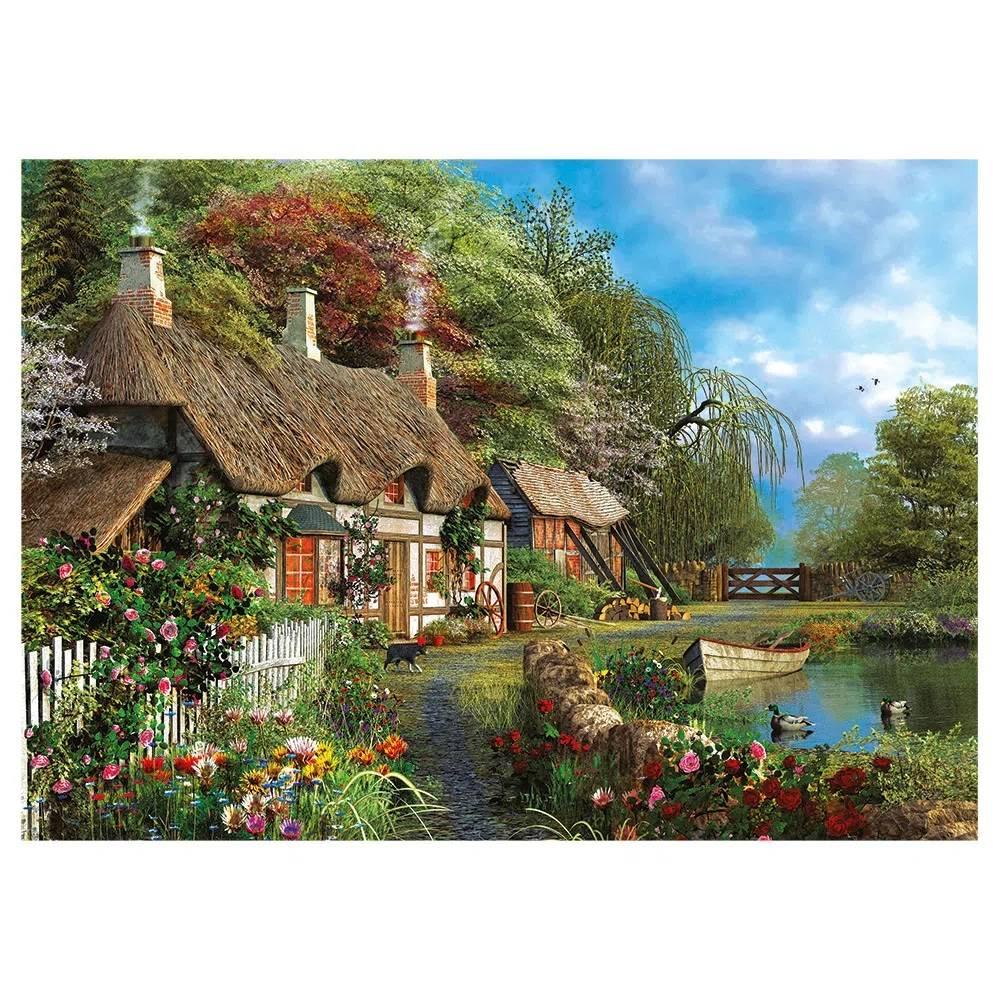 Quebra Cabeça 1000 Peças Casa no Lago - Puzzle Grow