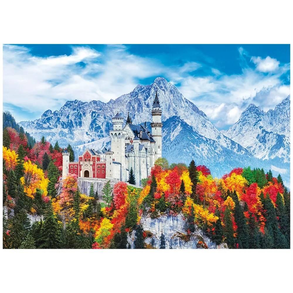 Quebra Cabeça 1000 Peças Castelo de Neuschwanstein na Alemanha - Puzzle Grow