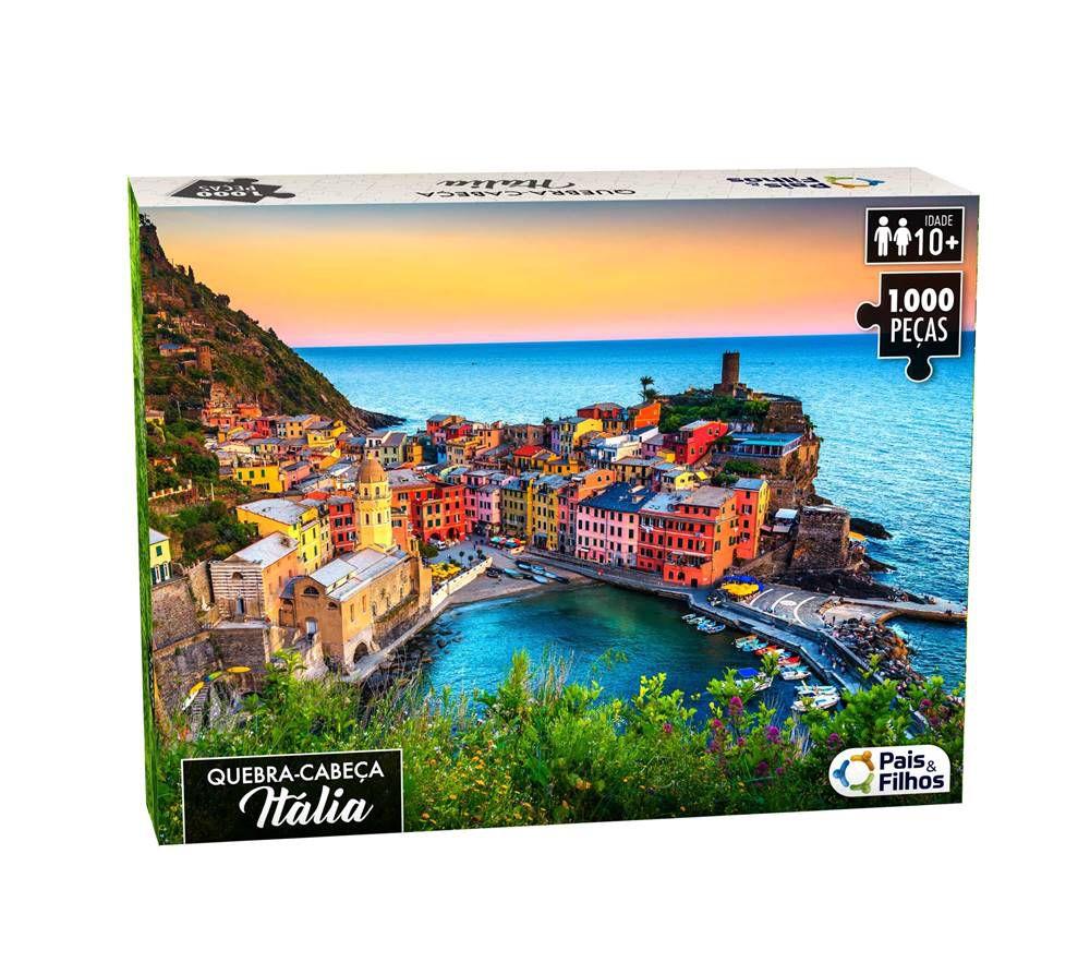 Quebra Cabeça 1000 Peças Italia - Puzzle Pais & Filhos