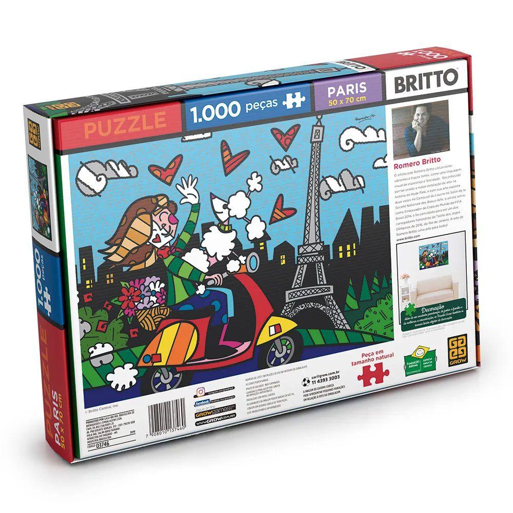 Quebra Cabeça 1000 Peças Romero Britto Paris - Puzzle Grow