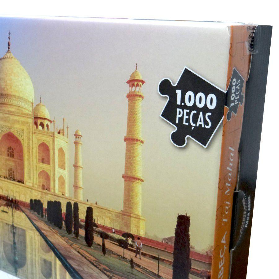Quebra Cabeça 1000 Peças Taj Mahal na India - Puzzle Pais & Filhos