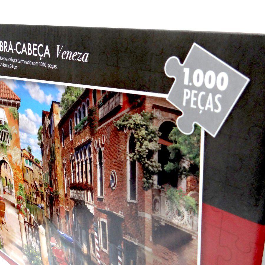 Quebra Cabeça 1000 Peças Veneza na Italia - Puzzle Pais & Filhos