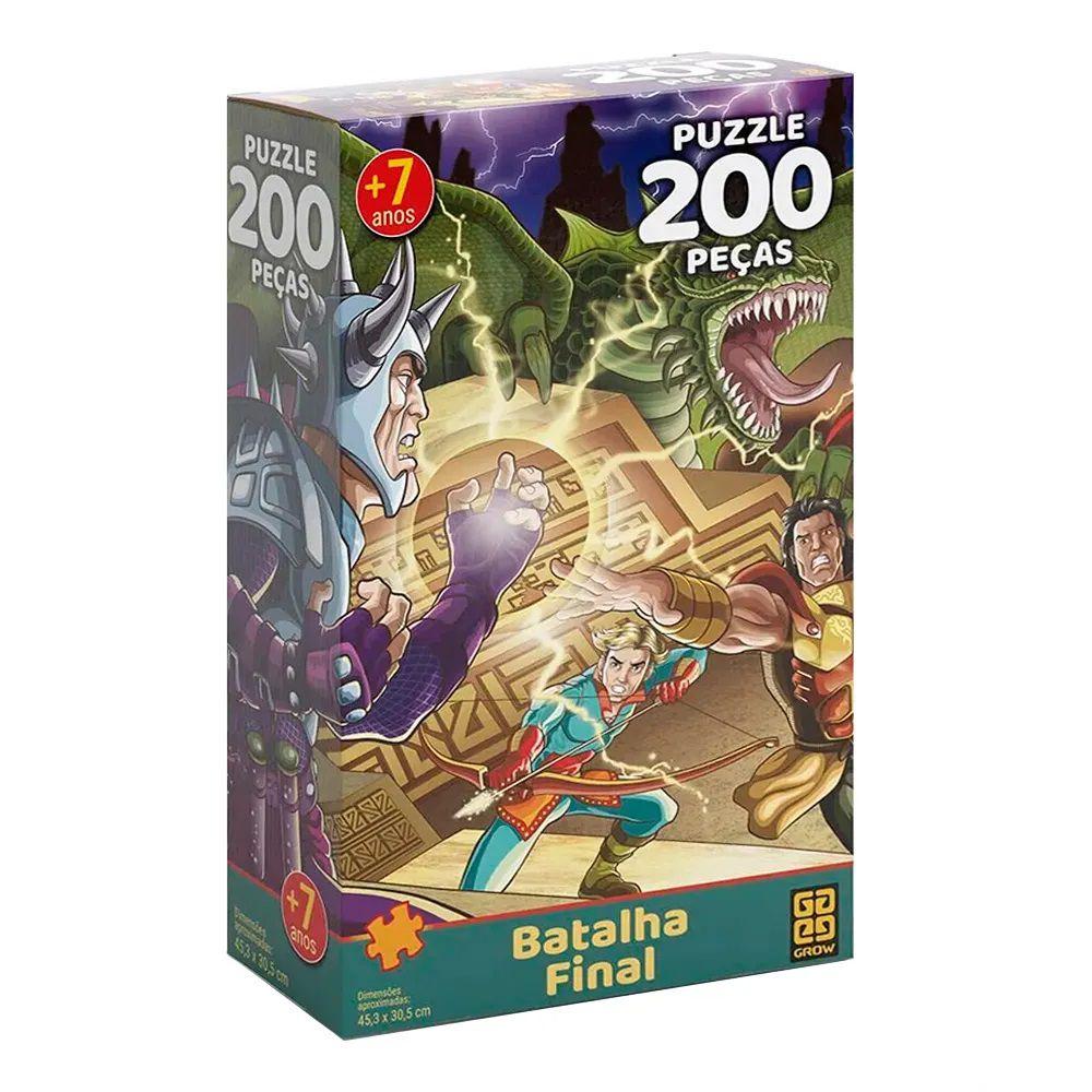 Quebra Cabeça 200 Peças Batalha final - Puzzle Grow