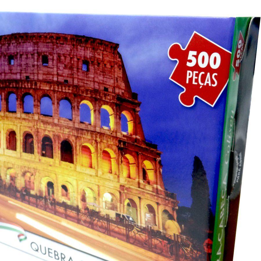 Quebra Cabeça 500 Peças Coliseu em Roma - Puzzle Pais & Filhos