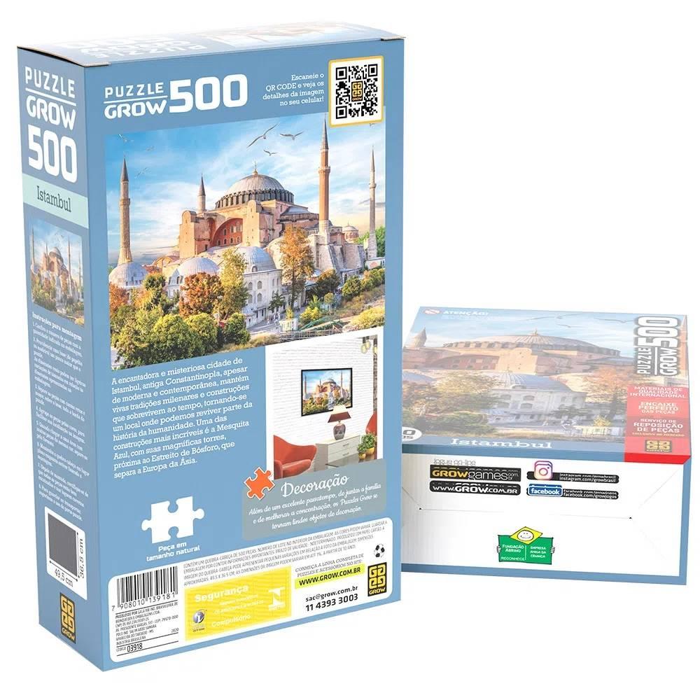Quebra Cabeça 500 Peças Istambul - Puzzle Grow