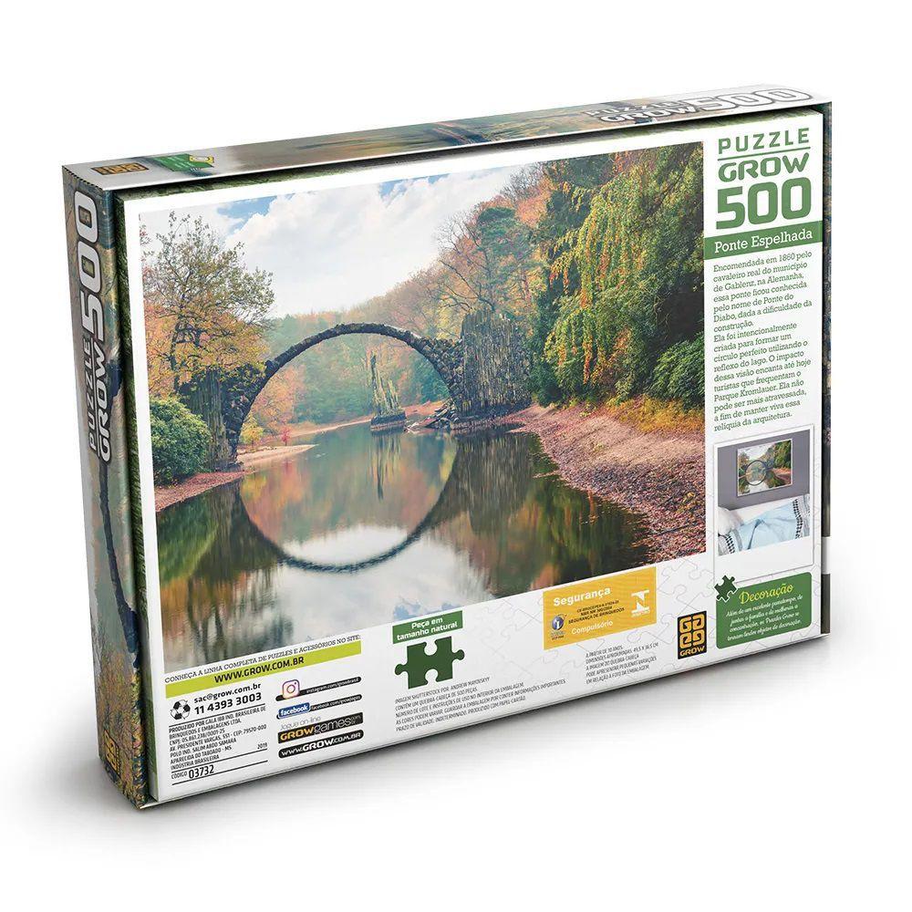 Quebra Cabeça 500 Peças Ponte Espelhada - Puzzle Grow
