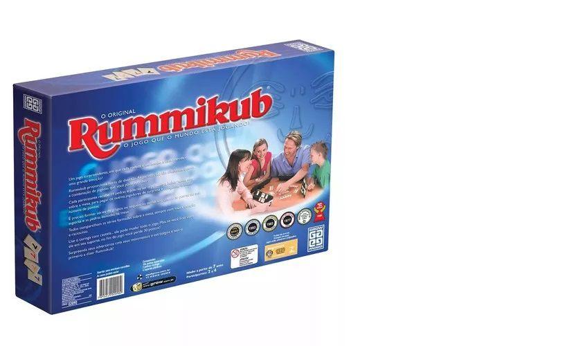 Rummikub Jogo De Estratégia E Atenção Grow Rummikub