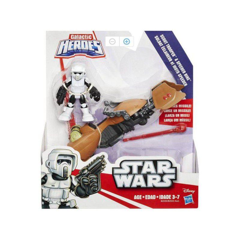 Boneco Star Wars Scout Trooper e Sppeder Bike B2035 - Hasbro