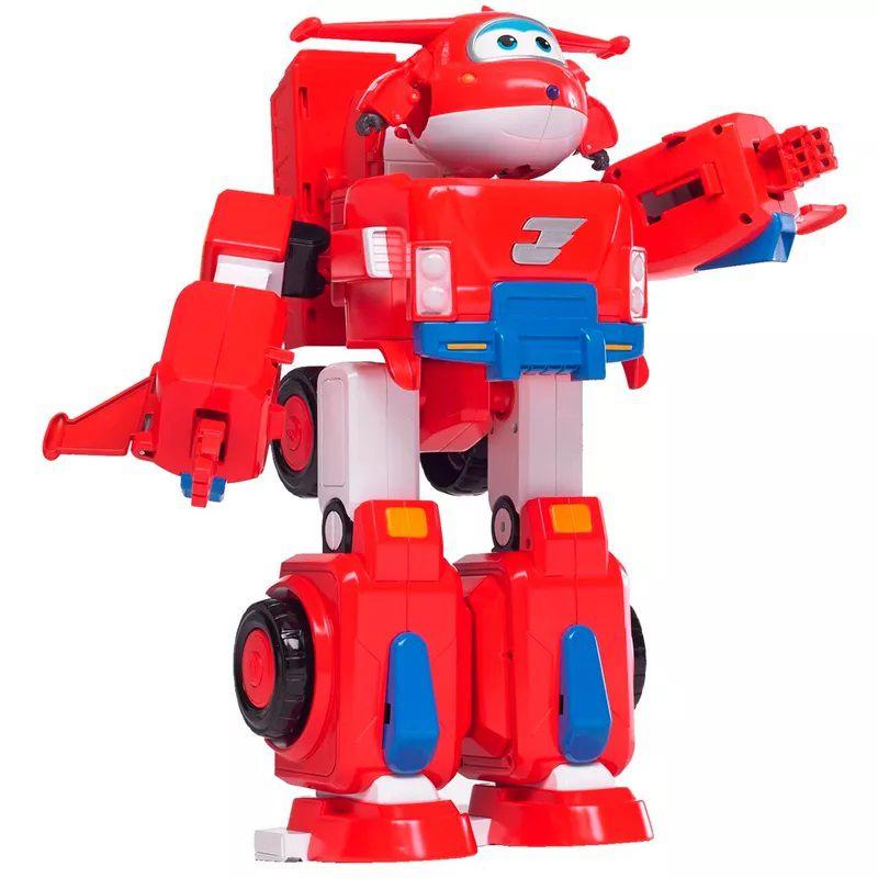 Super Wings  Super Robô Jett  34 cm - Fun